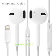 New For Apple iphone 7 / 7 Plus 8 Pin Earphone Wired Headset Volume Headphone