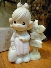 Precious Moments Figurine Loving Caring Sharing Along the Way 1992 C0013  MIB
