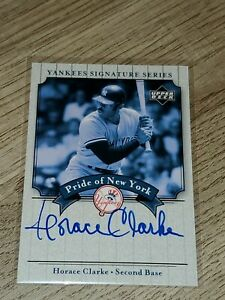 2003 Upper Deck Yankees Signature Series Pride of New York Horace Clarke auto