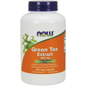 Now Foods Green Tea Extract 400 Mg 250 Vcaps Made in USA FREE SHIPPING