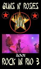 GUN N ROSES 01.15.01 ROCK IN RIO 3 LIVE DVD   I ACCEPT PAYPAL!!!