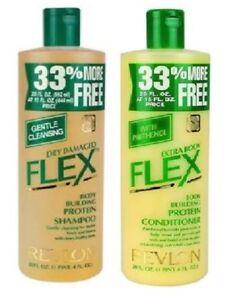 Original Revlon Flex Dry Damaged Shampoo & Extra Body Conditioner 592 ml / 20 oz