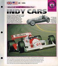INDY Race Cars Brochure: A.J.FOYT,PENSKE,FORD,ANDRETTI, 500