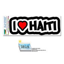 I Love Heart Haiti - SLAP-STICKZ™ Automotive Car Window Locker Bumper Sticker