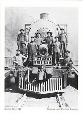 """Engine No. 1343""  TRAIN  *Norfolk & Western Railway {Postcard} (#157)"