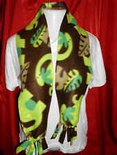 Handmade fleece scarf Listing # S003 Dinosaurs and Leaves