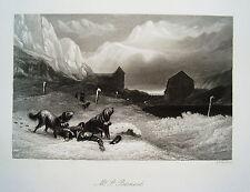 St Bernard schwweiz-Saint-Bernard Avalanche RARE Âge Acier Pli 1844