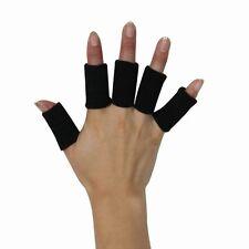 5 X Negro Dedo Muñequeras almohadillas Apoya Artritis Mangas dedos Vendaje