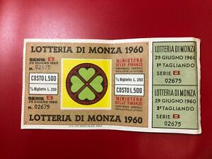 Lottery By Monza 1960 With Service