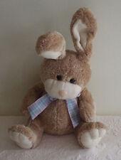 "Brown & Tan Bunny Rabbit Poseable Ears 18"" Stuffed Animal Plush"