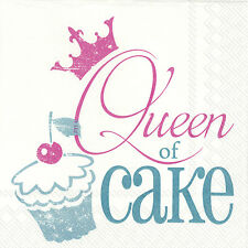 Queen of Cake Turquoise 20 x Disposable 3 Ply Lunch Paper Napkins Party Gift
