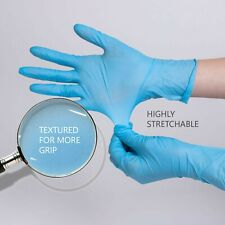 Nitrile Gloves Disposable Food Grade Powder Free Latex Free 4.8 Mil Thick Blue