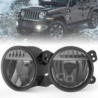 Upgrade LED Fog Lights Assembly Kit Bumper Lamps for Jeep Wrangler JL 2018-2020