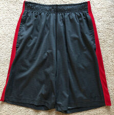 Mens Nike Dri Fit Shorts Size M Gray Striped Basketball Vguc