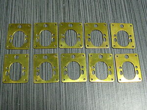 10 SLOT CAR RUSSKIT BRASS Motor/Chassis Mount Lot NOS VINTAGE 1/24 SCALE