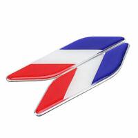 Car Body France Flag Design Emblem Sticker Accessories Fit Honda Nissan Lexus