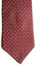 "Nautica Men's Silk Tie 59"" X 4"" Burgundy w/ gold Geometric"