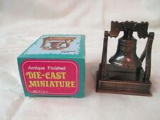 Vintage miniature Die Cast metal Pencil Sharpener Liberty Bell MIB Hong Kong