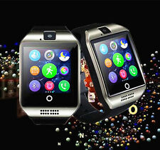 Q18 Silver Bluetooth smart watch Wrist with Camera Android IOS iPhone SIM Card