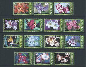 BAHAMAS QEII 2006 SG1425/38 set of 14 Flowers - unmounted mint. Catalogue £65