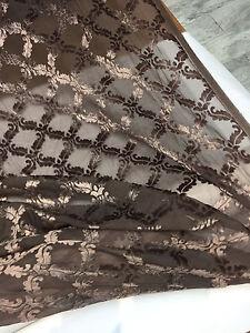 30 Yards Mushroom Diva Diamond Elegant burn out diamond velvet Fabric wholesale