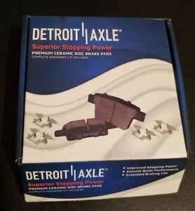 Detroit Axle P-999 Premium Rear Ceramic Disk Brake Pads With Hardware Kit