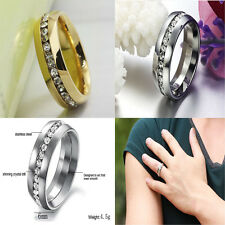 Stainless Steel Engagement Band Titanium Wedding Ring Couple