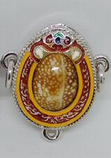 Biakae Silver LP Chuea Thai Amulet Protect Black Magic Luck Wealth Talisman Rare