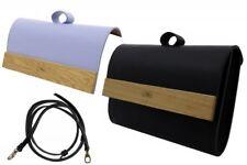 Shoulder Bag Clutch Handmade Leather &Wood Purse Handbag Waistbag 2in1 Unique