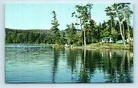 Catskill Mountains, NY - NORTH LAKE CAMPERS & OLD CARS - ROADSIDE POSTCARD