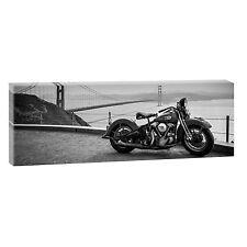 Panorama Bild auf Leinwand Bike Harley Poster Wandbild  XXL 150 cm *50 cm 474