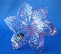 Italian Murano Flower Blown Glass light red Italy No 333 Mother's Day Gift