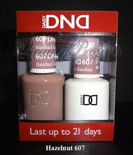 DND Daisy Soak Off Gel Polish Hazelnut 607 full size 15ml LED/UV gel duo set NEW