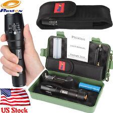 Phixton Bright 10000LM XML T6 LED Flashlight+1PCS 18650 Battery+Charger+Case US