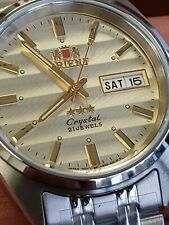 ORIENT 3 STAR MAN AUTOMATIC 21 JEWELS SUN-WAVE DIAL. FREE GIFT.