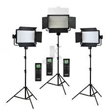 3x Godox LED500C Panel 3300-5600K Video Continuous Light 2.8m Stand Lighting Kit