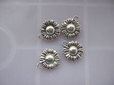 20 Tibetan Silver Tone Sunflower Charms Pendants Beads 16mm For Jewellery Making
