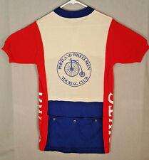 Vtg Portland Wheelmen Touring Club Wool Baleno Santini Bicycle Jersey Shirt 6 XL