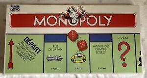 PARKER 1985 Vintage Jeu Société NEUF scellé Cellophane : MONOPOLY FRENCH EDITION
