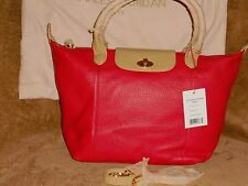 Charles Jourdan Paris Dee Large Tote Red & Tan Leather NWT MSRP 425.00 REDUCED !