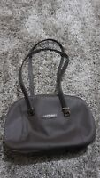 Sergio Tacchini Brown Oilcloth and Leather Bag.