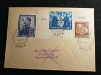 DDR 09.08.1951 - MiNr.285+288+289 Brief Berlin Sonderstempel für den Frieden