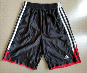 Adidas Boy's Atheletic Gym Shorts Black & Red - Small