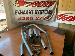 "HOLDEN HQ HJ HZ HX WB 1 TONNER 2.5"" mandrel bent dual system from extractors"