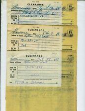 UNION PACIFIC RAILROAD TRAIN ORDERS  (30)  LAWRENCE, KANSAS  1968-1971.
