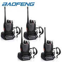 4x Baofeng BF-888S Two Way Radio Walkie Talkie UHF 400-470MHz Handheld + Earbuds