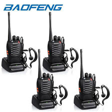 4x Baofeng BF-888S Two Way Radio Walkie Talkie UHF 400-470MHz Handheld + Earbuds