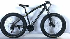 "Black new 26"" 21 Speed Snow Mountain Bike  Beach BICYCLE  4.0"" Fat Tire"