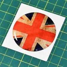 Union Jack Flag Large Domed Sticker - High Gloss Raised Finish - Vintage Effect