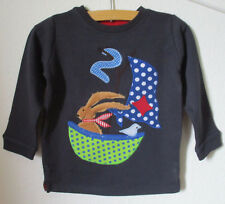 Geburtstagsshirt mit Applikation *SEGELBOOT*, Unikat, blau, Gr.92, NEU